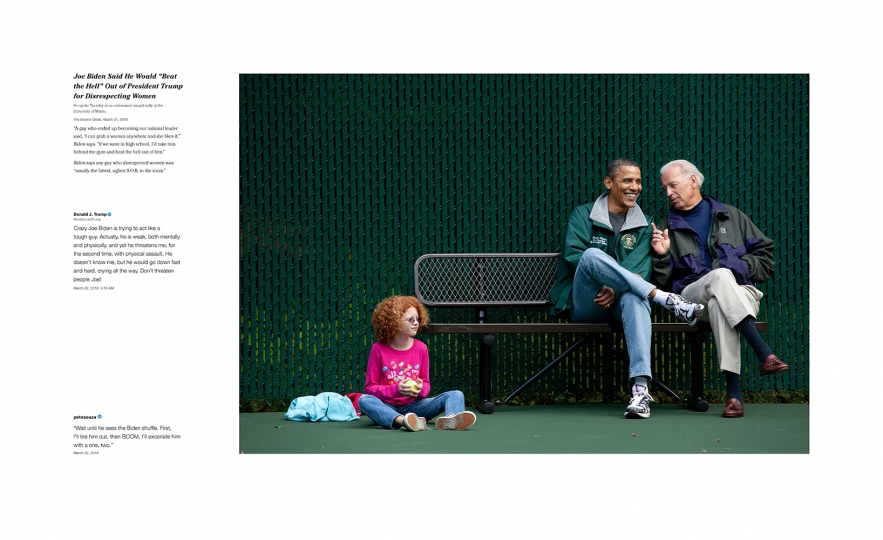 Shade #8, 2018 Archival pigment print, printed 2018 22h x 36w in Edition of 13 + 2 APs; Signed and numbered by photographer © Pete Souza – Courtesy Steven Kasher Gallery