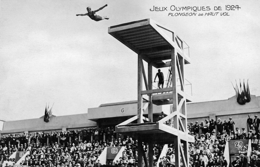 Paris 1924 OG Diving An athlete. © 1924 Comité International Olympique CIO