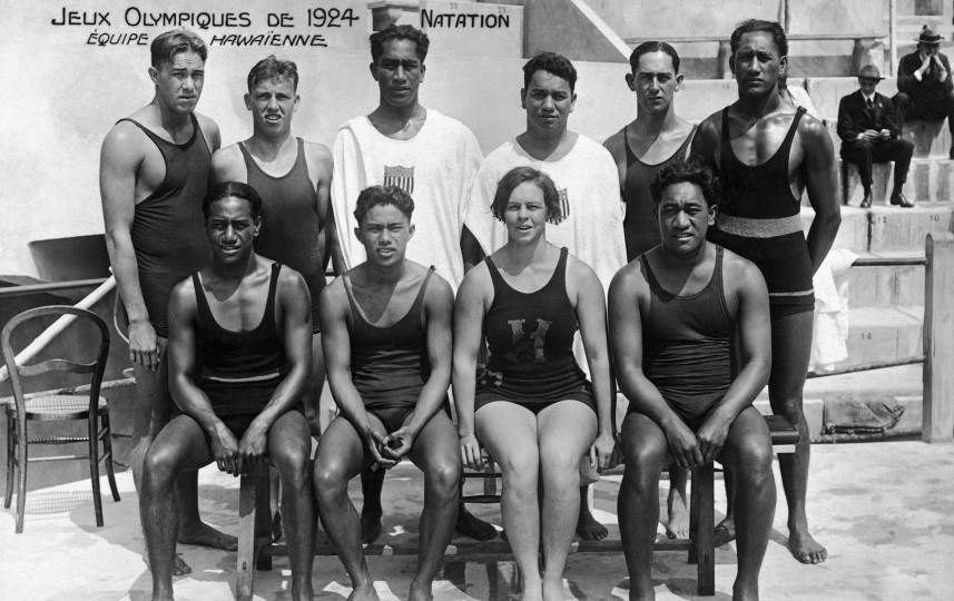 Paris 1924 OG Swimming The team from the United States of America USA. © 1924 Comité International Olympique CIO
