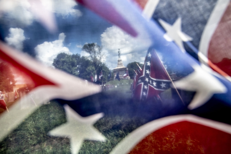 Confederate Memorial Day in Fredericksburg VA © Mark Peterson – Courtesy W. Eugene Smith Memorial Fund