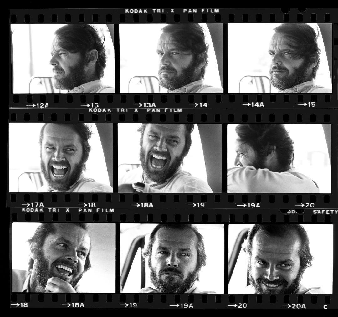 Jack Nicholson Contact Sheet 1975 © Harry Benson