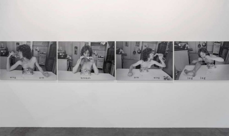 Chickens coming home to roost – 19751976,81 x 122 cm (each) - n. 4 photo, B/W Lamda matte print on dbond, lettering - Courtesy Galerie ENRICO ASTUNI