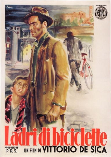 Poster for Ladri di biciclette (Bicycle Thieves) Directed by Vittorio De Sica, 1948