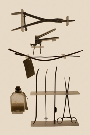 a set of household abortion tools © Laia Abril.
