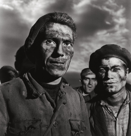 Miners at Carbonia Sardinia, 1950 © Studio Patellani