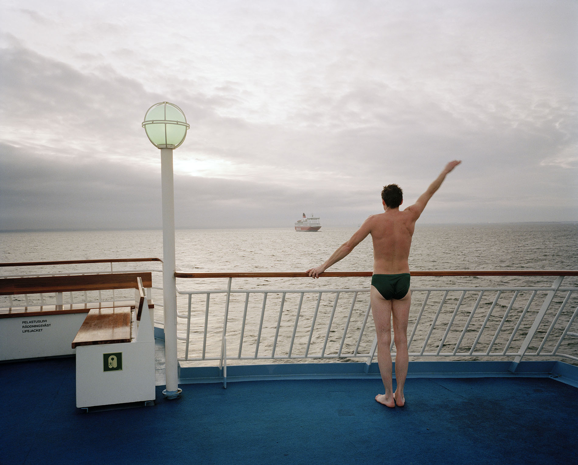Martin Parr - Courtesy Magnum Photos.  FINLAND. Ferry between Helsinki and Stockholm. 1991.