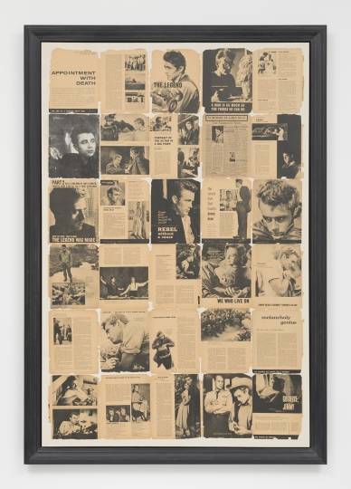 Jack Pierson Self Portrait (James Dean), 1993 Pages de magazines montées sur canvas © Jack Pierson, avec l'aimable autorisation de Regen Projects, Los Angeles