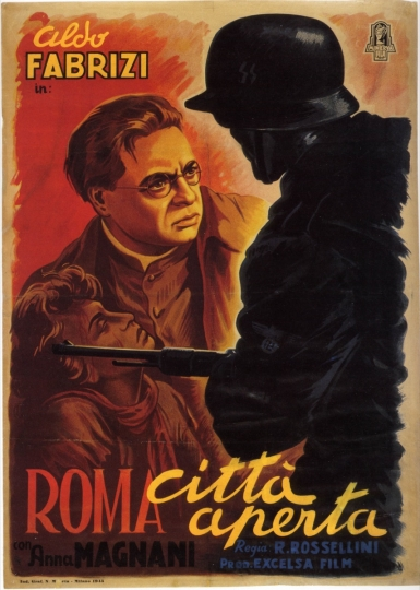 Poster for Roma città aperta (Rome, Open City) Directed by Roberto Rossellini, 1945
