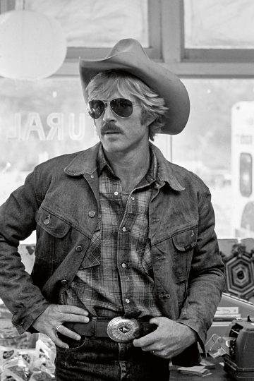 American actor, director and producer, Robert Redford during the filming of 'The Electric Horseman' by Sydney Pollack, 1979. © Eva Sereny