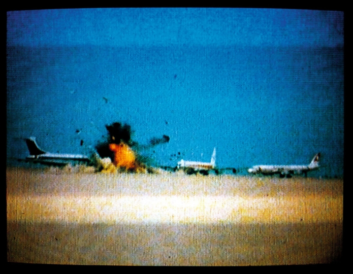 Johan Grimonprez Three hijacked planes on a desert airstrip near Amman, Jordan, 12 September 1970.