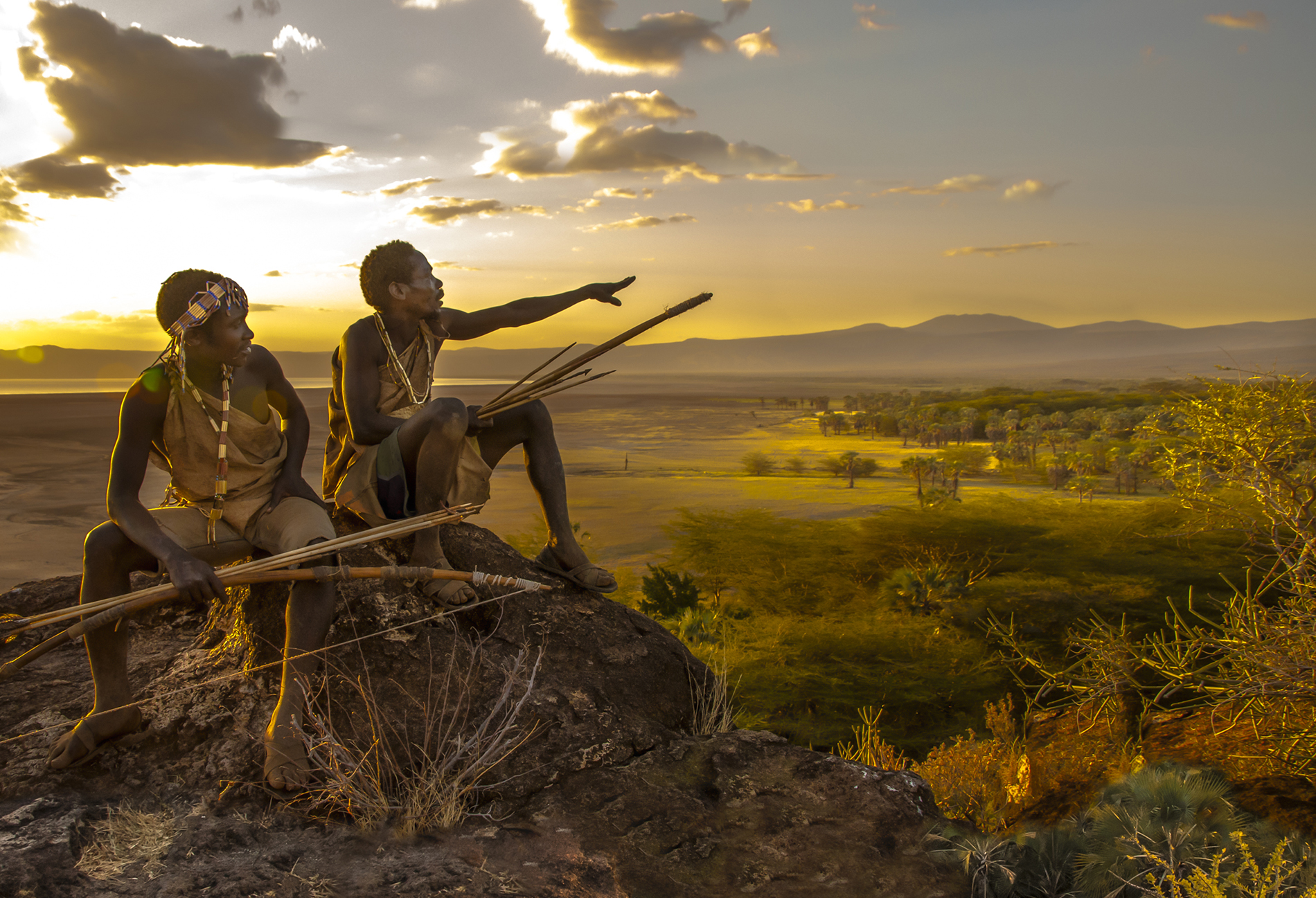 Hadza Hunters Overlooking their Territory, Tanzania © Carol Beckwith & Angela Fisher