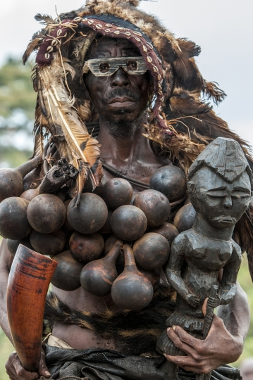 Kuba Royal Protector of the King, DR Congo © Carol Beckwith & Angela Fisher