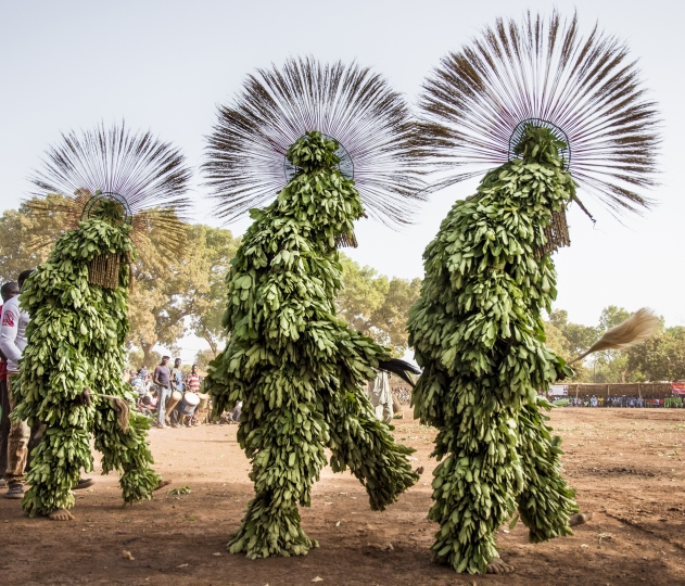 Harvest Leaf Masks, Burkina Faso © Carol Beckwith & Angela Fisher