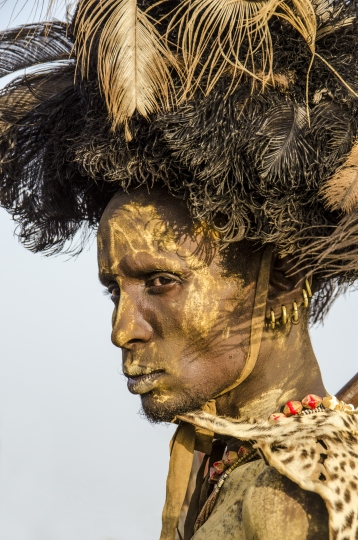 Dassenech Elder at Dimi Ceremony, Omo Valley, Ethiopia © Carol Beckwith & Angela Fisher