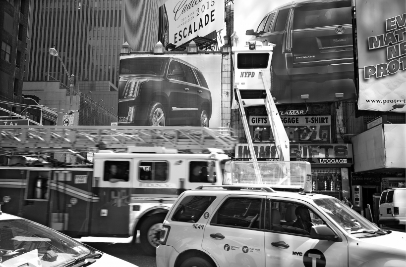Midday traffic in Times Square © Betsy Karel - America's Stage: Times Square