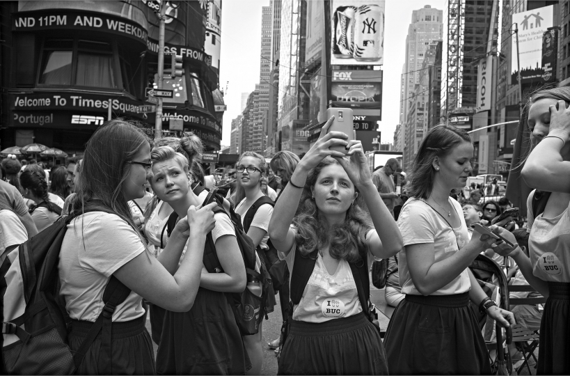 Group of schoolgirls exploring the sites © Betsy Karel - America's Stage: Times Square