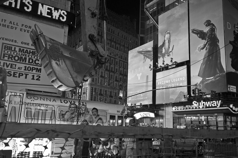 Change is constant, and construction goes late into the night. © Betsy Karel - America's Stage: Times Square