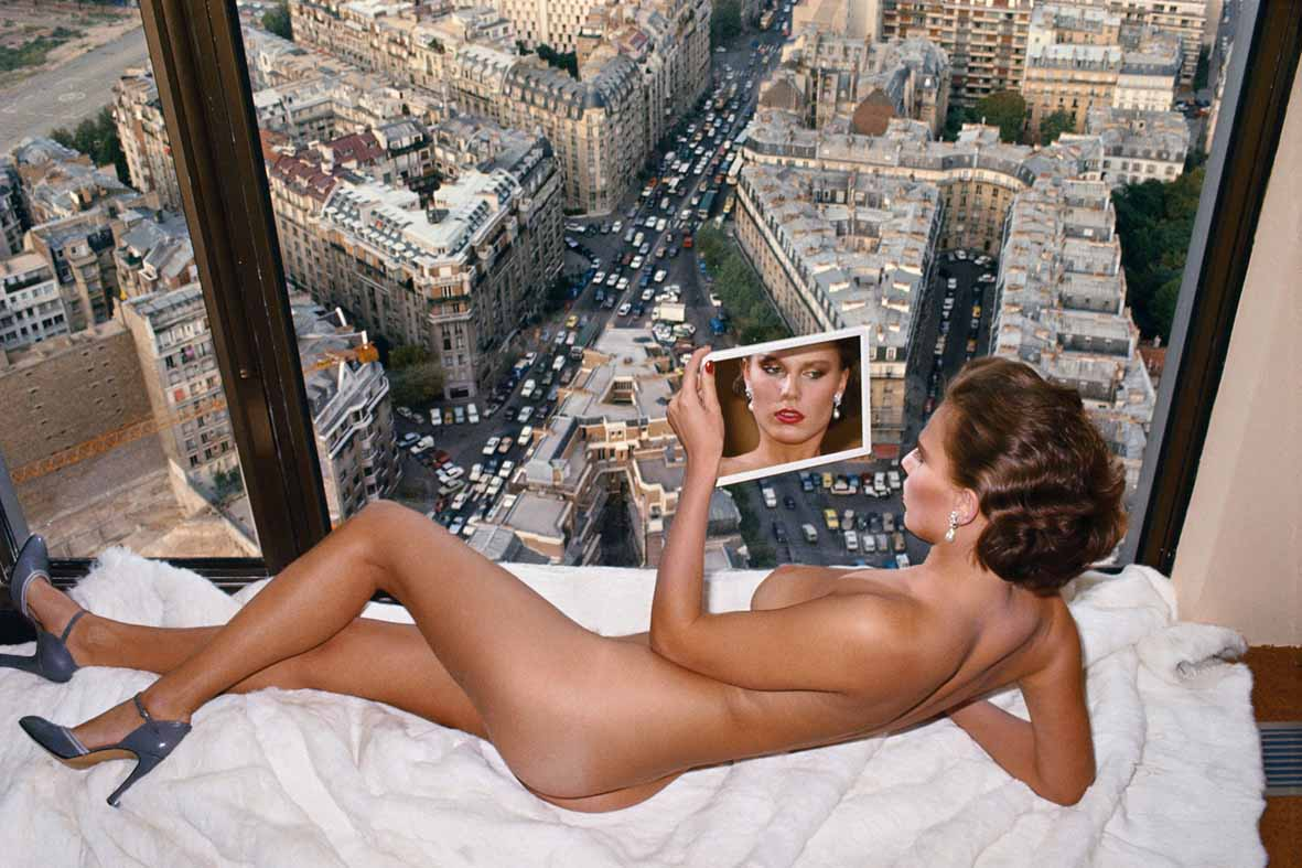 Helmut Newton - Bergstrom over Paris, Paris 1976 © Helmut Newton Estate