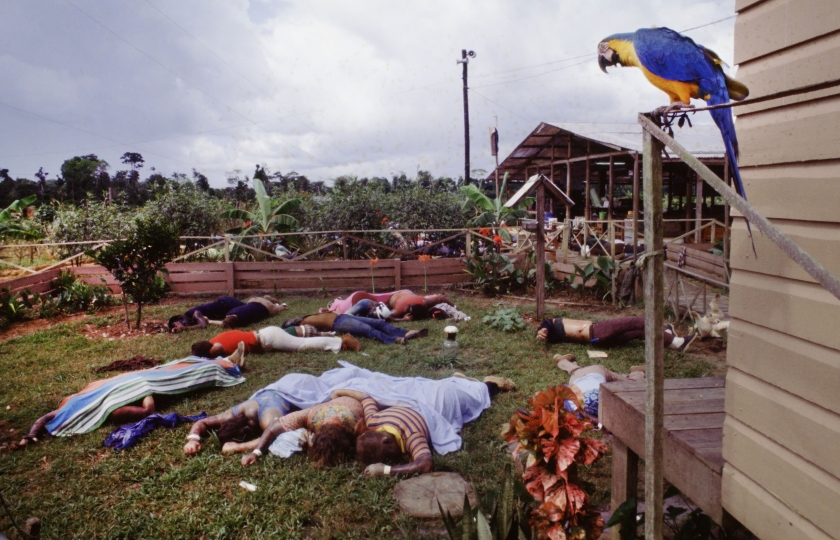 The only living thing in Jonestown after the murder/suicides that killed 909 people. (© David Hume Kennerly/Getty Images).