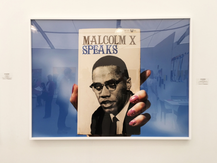 60. Sadie Barnette, Untitled (Malcom X Speaks), 2018, Fort Gansevoort Gallery