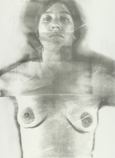 Joan Lyons Untitled (from the Womens' Portrait series), 1974 Haloid Xerox transfer to plate and lithograph 26h x 19w in Edition of 10, Signed by artist verso - Courtesy Steven Kasher Gallery