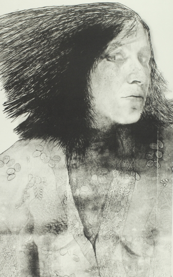 Joan Lyons Untitled (from the Womens' Portrait series), 1974 Haloid Xerox transfer to plate and lithograph 26h x 19w in Edition 2 of 10, Signed by artist verso - Courtesy Steven Kasher Gallery