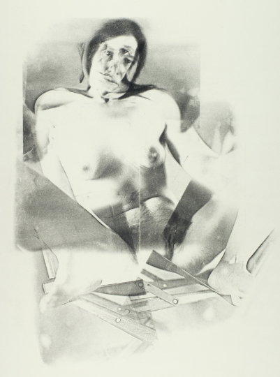 Joan Lyons Untitled (from the Womens' Portrait series), 1974 Haloid Xerox transfer 26h x 19w in Unique, Signed by artist verso - Courtesy Steven Kasher Gallery