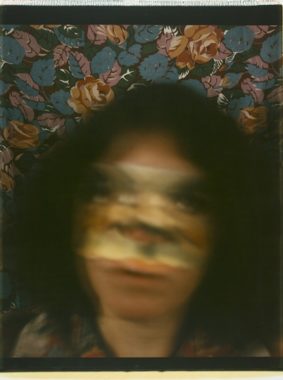 Joan Lyons Untitled (Self-portrait from the Polaroids series), 1979 Polaroid print 30h x 22w in Unique, Signed by artist verso - Courtesy Steven Kasher Gallery
