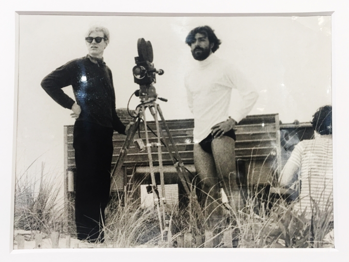 82. Andy Warhol and Rolando Peña during the filming of ****(Four Stars). Photo by Marcelo Montealegre