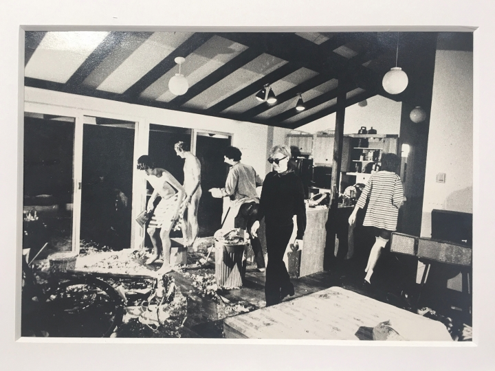 83. Marcelo Montealegre's photo documenting the filming of ****(Four Stars), directed by Andy Warhol