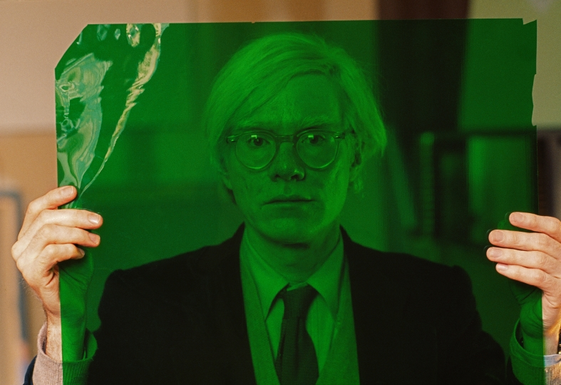 USA. New York. Manhattan. 1981. Andy WARHOL in his