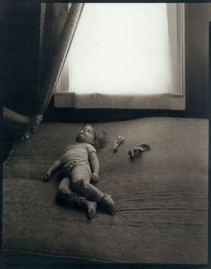 Andrea Modica: Treadwell, NY, 1992, platinum print, #3/20 of the sold-out edition, signed, titled, dated, and editioned recto, image size: 9.75˝x7.75˝, sheet size: 12˝x8.25