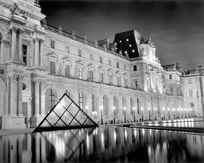 Catherine Steinmann: Cour du Louvre, Paris, 1997, vintage silver print, signed, titled, numbered, and dated verso, image size: 13.5˝x16.75˝, sheet size: 16˝x20˝ ($1,000–$1,500)