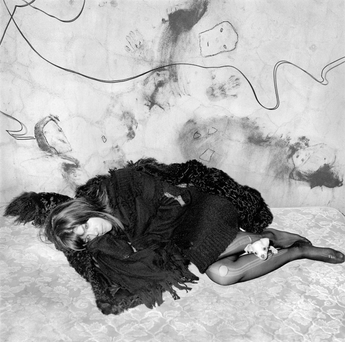 Roger Ballen: Selma Blair and Scruffy, 2005, archival pigment print, AP 3/4, signed, titled, dated, and numbered verso, with certificate of authenticity, image size: 14.125