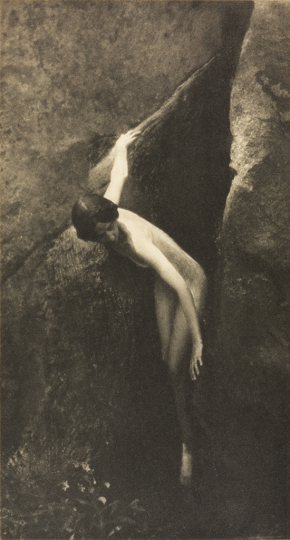 The Cleft of the Rock, circa 1907, photogravure print, 9 ½ x 5 1/8 inches. The Michael G. and C. Jane Wilson 2007 Trust