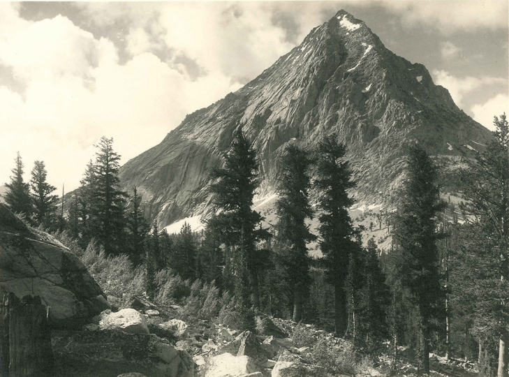 Ansel Adams, East Vidette, Southern Sierra, c. 1927 Vintage parmelian print 5.75 x 7.75 inches - Copyright The Ansel Adams Publishing Rights Trust