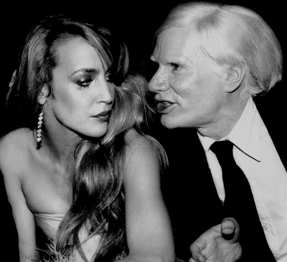 Jerry Hall & Andy Warhol © Rose Hartman