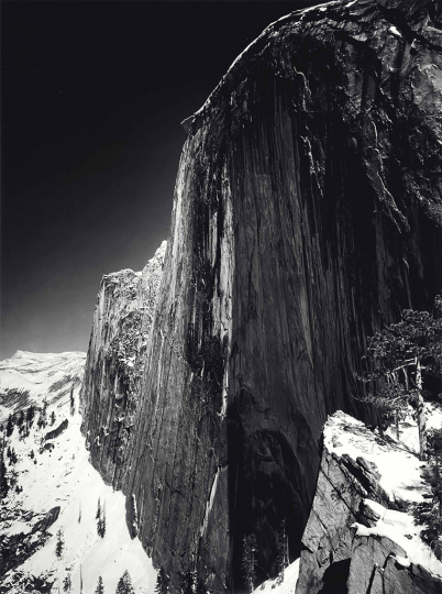 Ansel Adams, Monolith, The Face of Half Dome, Yosemite National Park, 1927, Gelatin silver print, printed 1960 - Copyright The Ansel Adams Publishing Rights Trust