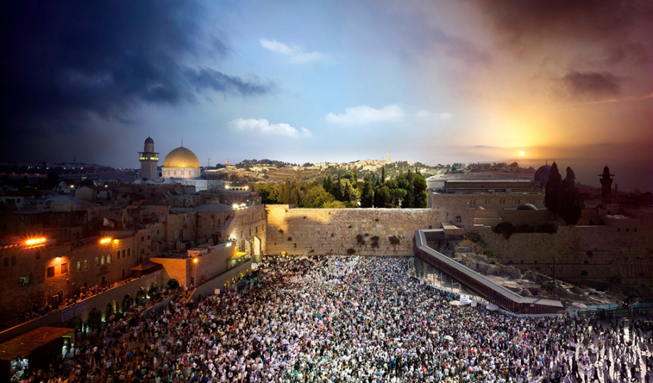 Stephen Wilkes Western Wall, Jerusalem Israel Fuji Crystal Archival Photograph Executed in 2012
