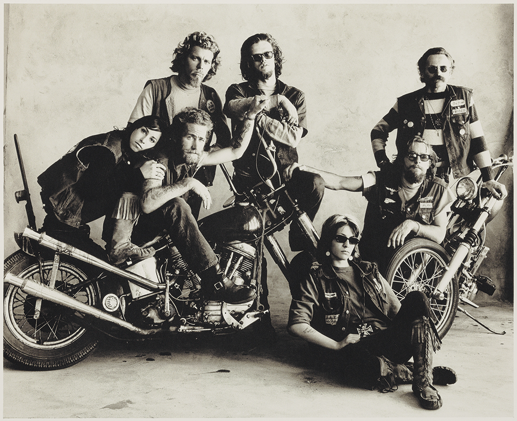 © The Irving Penn Foundation © Condé Nast Hell's Angels, San Francisco, 1967 Platinum-palladium print. Printed in 1969 Full image size: 50.7x60.7cm Unframed image size: 38x46.7cm © The