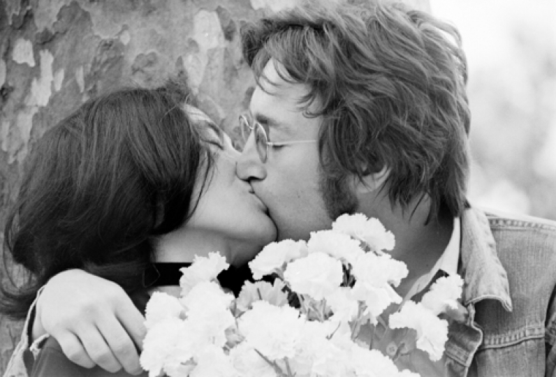 John Lennon et Yoko Ono, Festival de Cannes 1971 © Claude Azoulay, all rights reserved