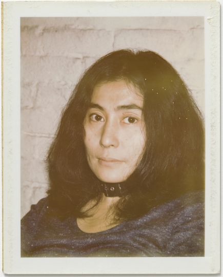 Andy Warhol, Yoko Ono, ca. 1971, Polaroid, 10.7 x 8.5 cm, © 2018 The Andy Warhol Foundation for the Visual Arts, Inc. Licensed by DACS, London. Courtesy BASTIAN, London