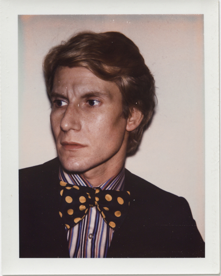 Andy Warhol, Yves Saint-Laurent, 1972, Polacolor Type 108, 10.7 x 8.5 cm. © 2018 The Andy Warhol Foundation for the Visual Arts, Inc. Licensed by DACS, London. Courtesy BASTIAN, London