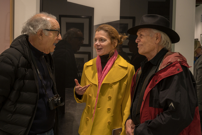 Bob Hoffman, Grazyna Kolondra and Steven Shaw, ASC stand for a moment talking about the pictures they've seen and what to look at next © Andy Romanoff