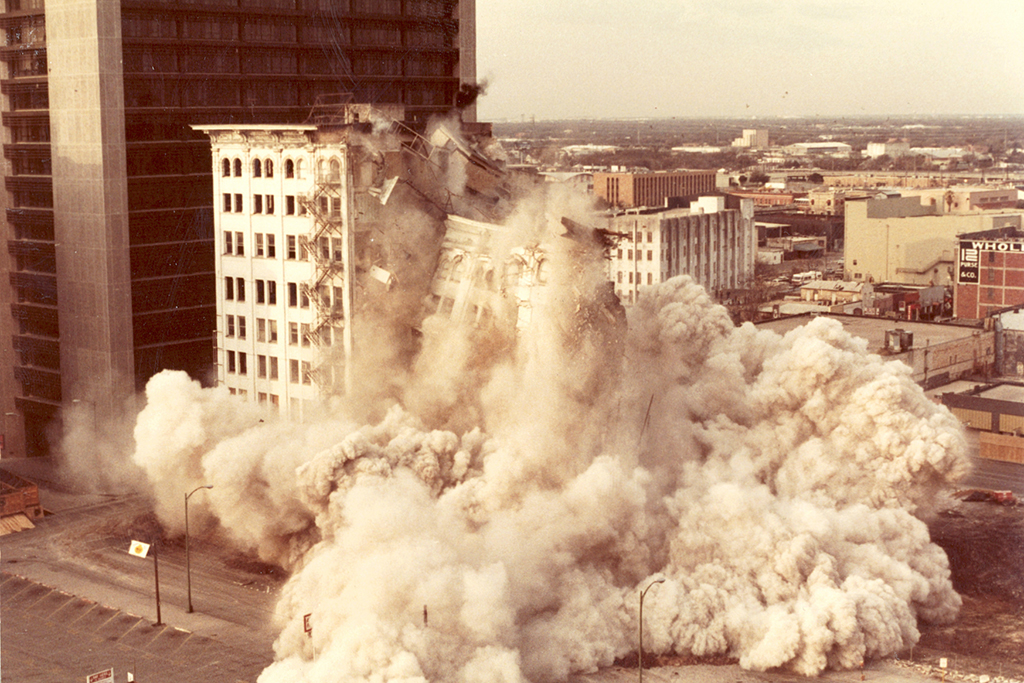 Unidentified Photographer, [Building Implosion, Stowers Furniture Company, San Antonio, TX], 1982 Courtesy The Walther Collection