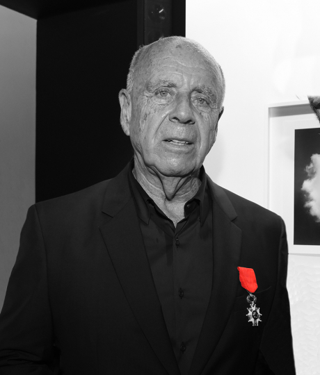 Receiving the Legion d'Honneur ( Photograph by Dominique Gremond ) © Ralph Gibson