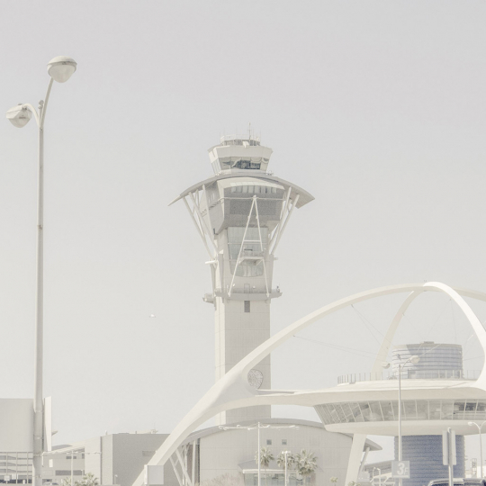 Los Angeles airport - All Watched Over by Machines of Loving Grace © Leah Gordon