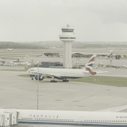 Gatwick airport - All Watched Over by Machines of Loving Grace © Leah Gordon