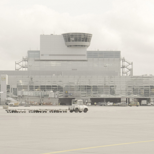 Frankfurt airport - All Watched Over by Machines of Loving Grace © Leah Gordon