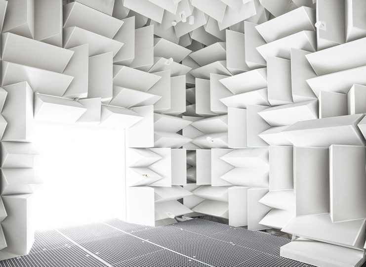 Anechoic chamber, [ISAE], Toulouse, 2018 © Vincent Fournier